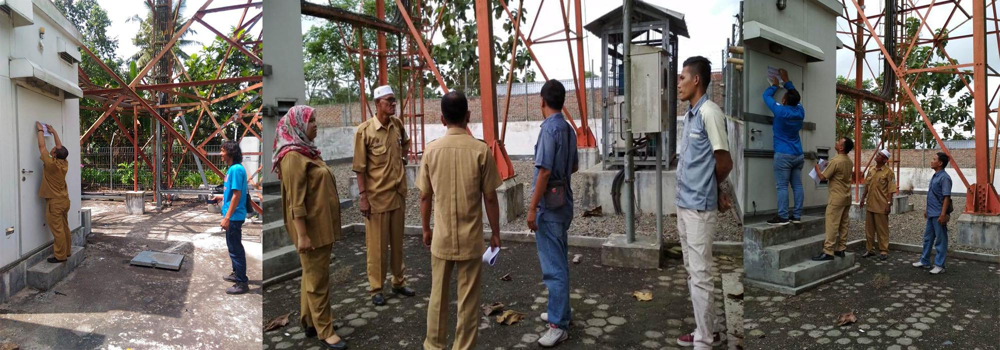 Dinas Kominfo Monitoring Menara Telekomunikasi di Kabupaten Sergai