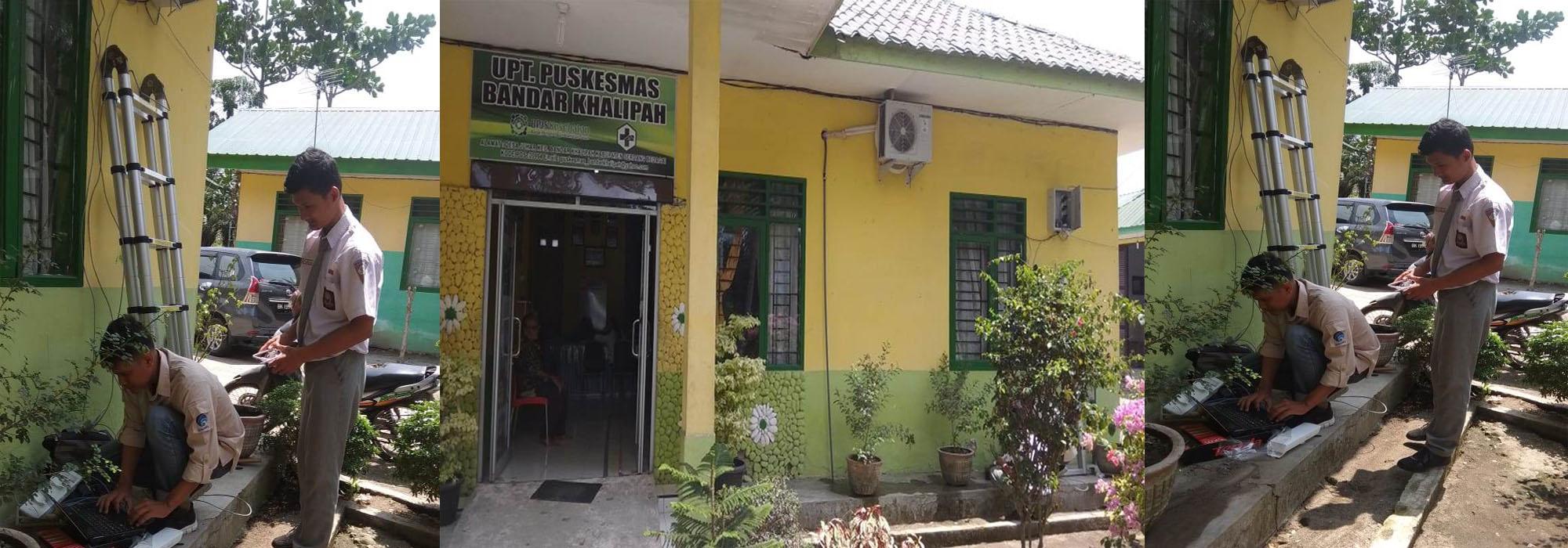 Dinas Kominfo Pasang Jaringan Internet di Puskesmas Bandar Khalipah