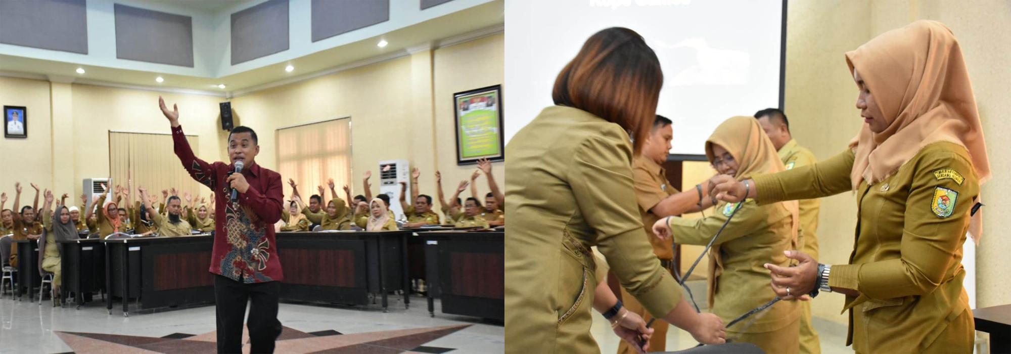 Pejabat Administrator dan Pengawas Dinas Kominfo Sergai Ikuti Seminar Motivasi