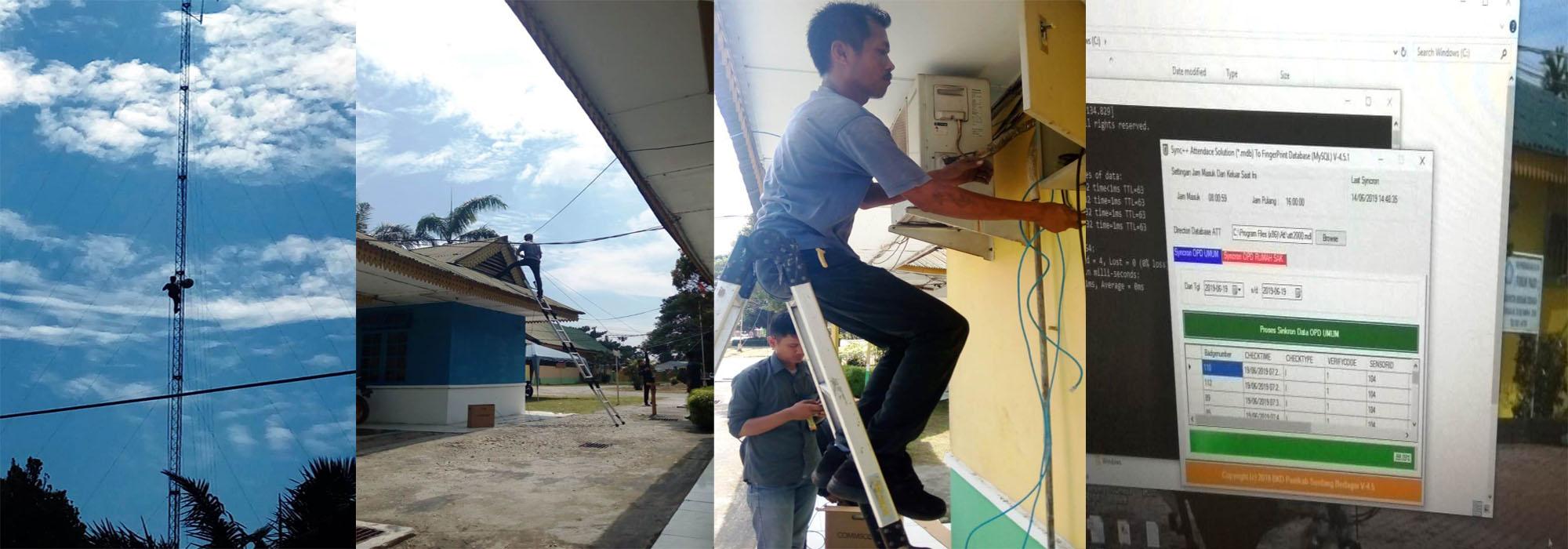 Perbaikan Radio Link di Dinas Perkim Sergai