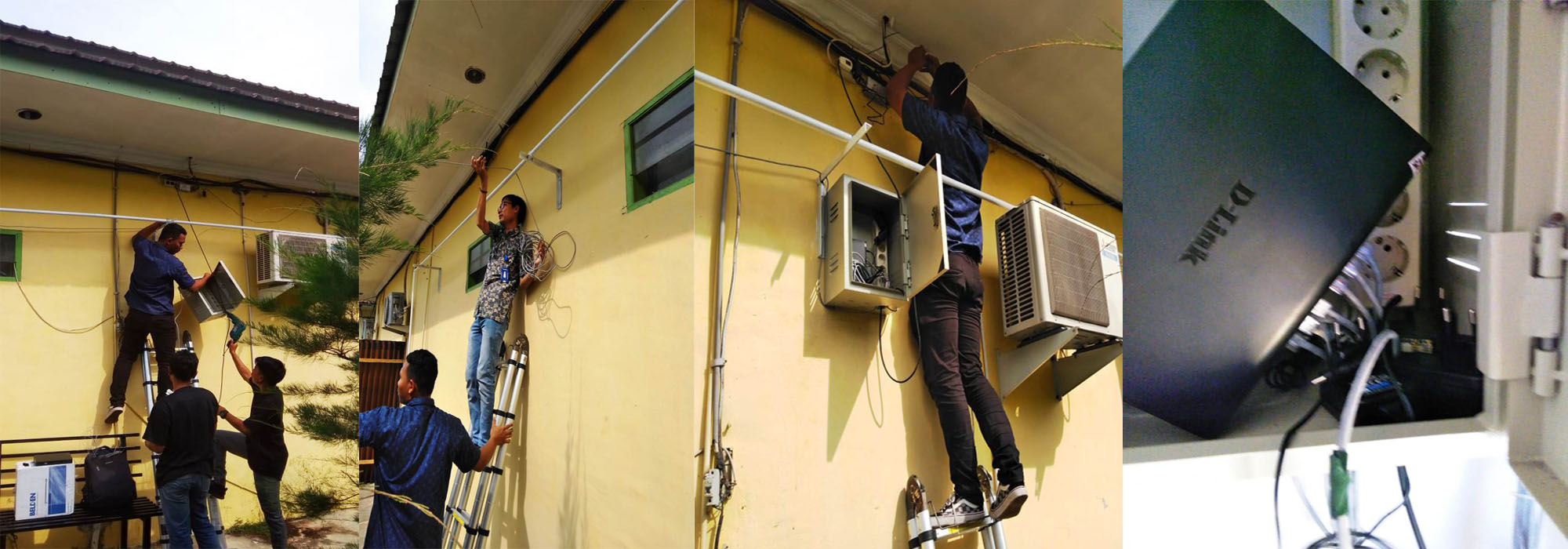 Perpindahan Panel Jaringan Internet di RSUD Sultan Sulaiman