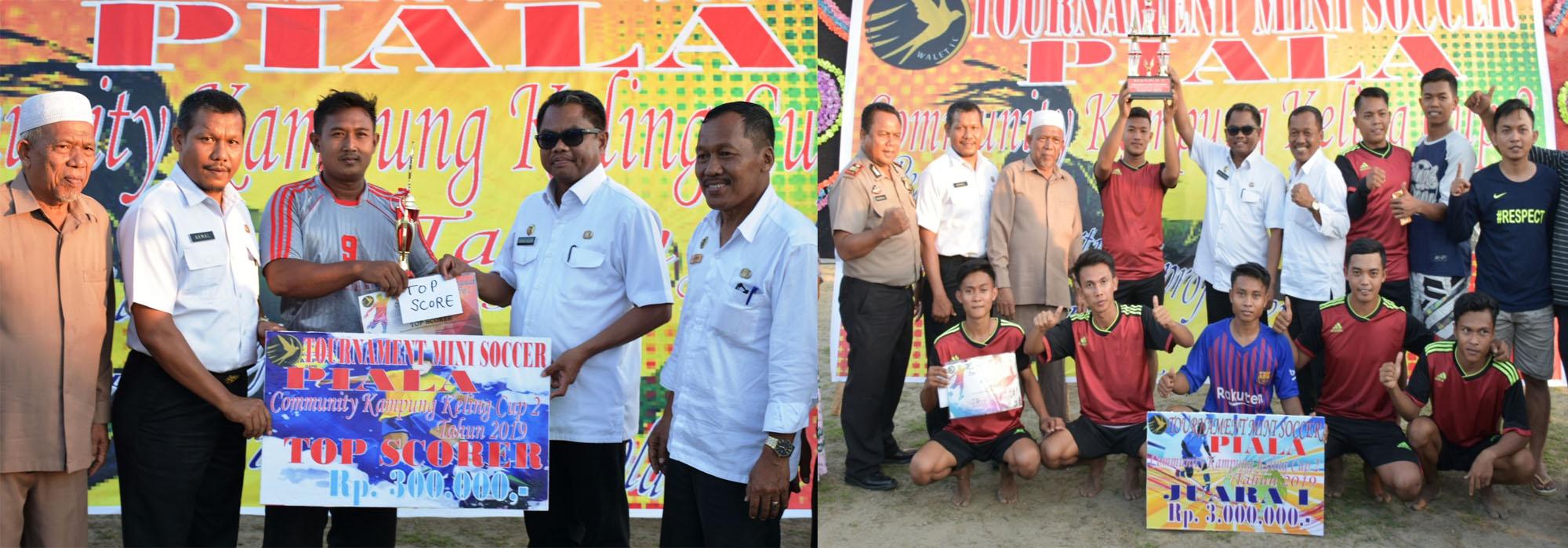 Kadis Kominfo Dampimgi Wabup Sergai Tutup Turnamen Kampung Keling Cup II